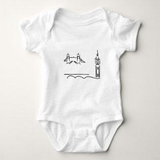 Body Para Bebê london tower bridge big ben