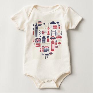 Body Para Bebê Londres no coração