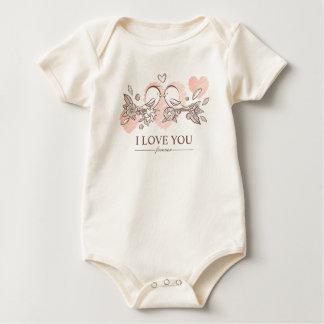 Body Para Bebê Lovebirds adoráveis no Bodysuit dos namorados | do