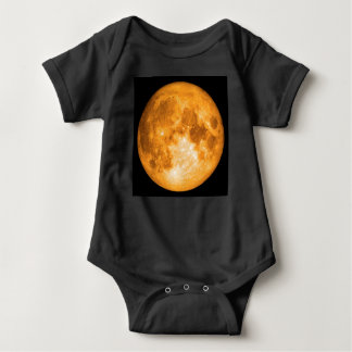 Body Para Bebê Lua cheia alaranjada