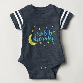 Body Para Bebê Lua e sonhador grande pequeno azul das estrelas