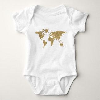 Body Para Bebê Lugar móvel feito sob encomenda do coração do mapa