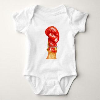 Body Para Bebê Luva de encaixotamento vermelha