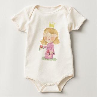 Body Para Bebê Luva longa da princesa pequena
