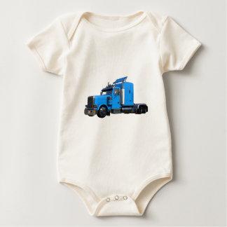Body Para Bebê Luz - do azul caminhão semi na opinião dos três