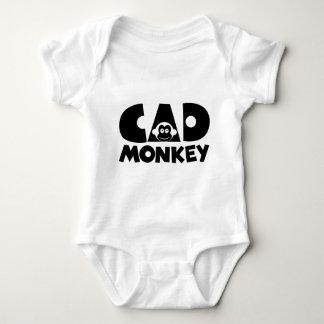 Body Para Bebê Luz do macaco do Cad