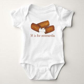 Body Para Bebê M é para a comida lixo Foodie das varas do