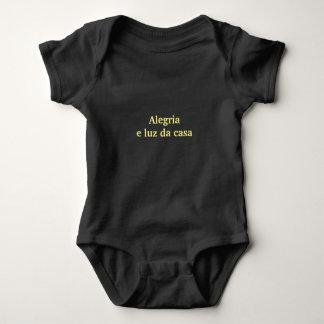 Body Para Bebê Macacão Alegria - Preto 12 meses