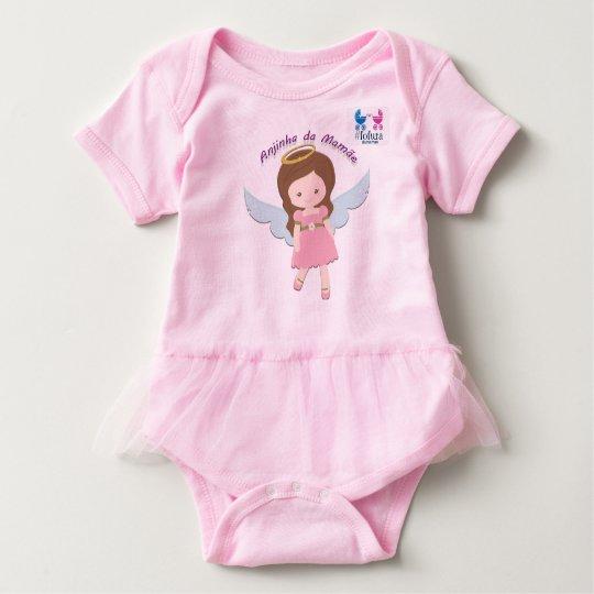Body Para Bebê Macacão frufru menina Anjinha