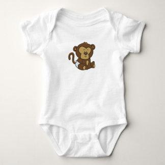 Body Para Bebê Macaco customizável do bebê
