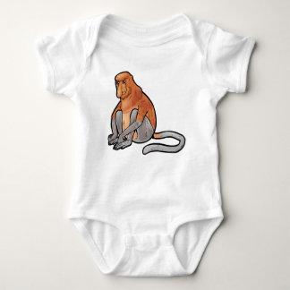 Body Para Bebê Macaco de Proboscis