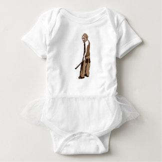 Body Para Bebê macaco humano com vara