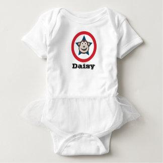 Body Para Bebê Macaco super veste Curto-Sleeved com tutu