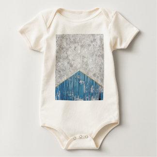 Body Para Bebê Madeira azul #347 da seta concreta
