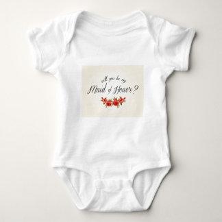 Body Para Bebê Madrinha de casamento