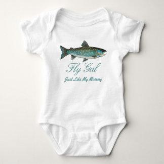 Body Para Bebê Mãe do carvão animal de Greenland e pesca com