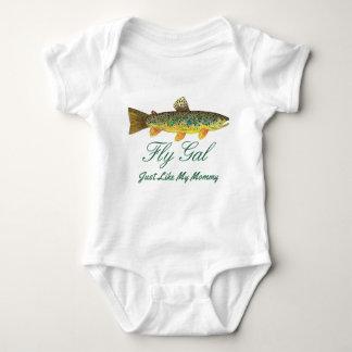 Body Para Bebê Mãe e bebê engraçados da pesca com mosca da truta