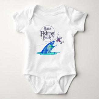 Body Para Bebê Mãe que pesca o amigo