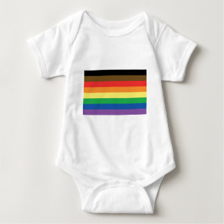Body Para Bebê Mais colorem mais arco-íris LGBT customizável do
