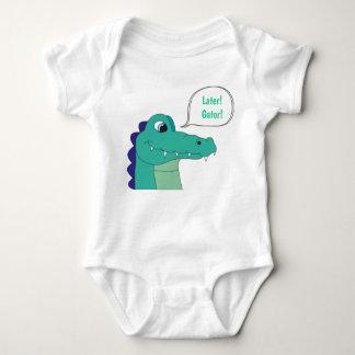 Body Para Bebê Mais tarde! Jacaré! Bodysuit do bebê