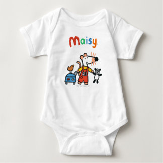 Body Para Bebê Maisy pronta para férias com bagagem