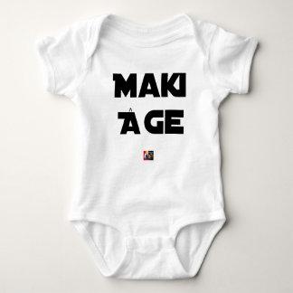 Body Para Bebê MAKI IDADE - Jogos de palavras - François Cidade