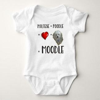 Body Para Bebê Maltês + Caniche = Moodle