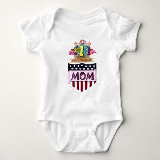 Body Para Bebê Mamã do número um