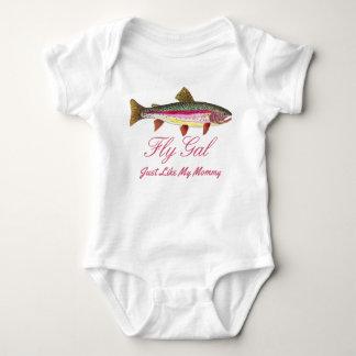 Body Para Bebê Mamães engraçadas da pesca com mosca da truta de