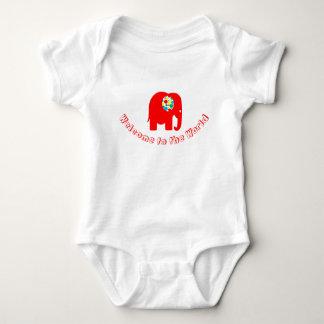 Body Para Bebê Manchado, vermelho, bodysuit neutro do elefante do