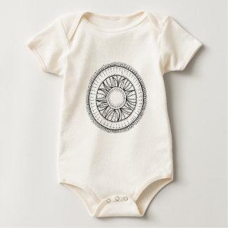 Body Para Bebê mandala da flor do dente-de-leão