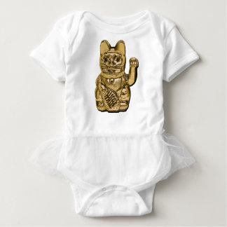 Body Para Bebê Maneki dourado Neko