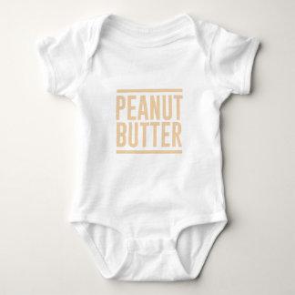 Body Para Bebê Manteiga de amendoim