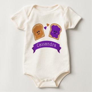 Body Para Bebê Manteiga e geléia de amendoim bonito