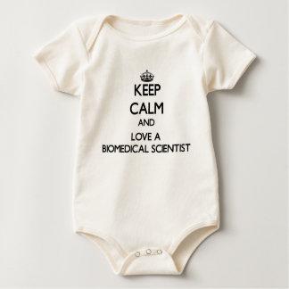 Body Para Bebê Mantenha a calma e ame um cientista biomedicável