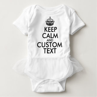 Body Para Bebê Mantenha a calma e criar seus próprios fazem para