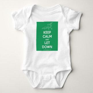 Body Para Bebê Mantenha a calma e deixe para baixo o uniforme do