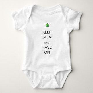 Body Para Bebê Mantenha a calma e o delírio sobre