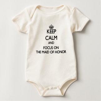 Body Para Bebê Mantenha a calma e o foco na madrinha de casamento