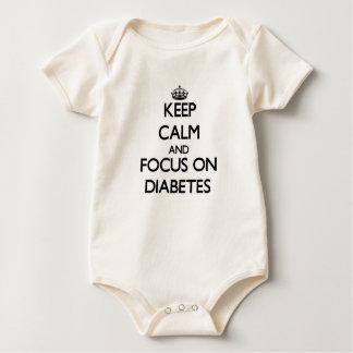 Body Para Bebê Mantenha a calma e o foco no diabetes