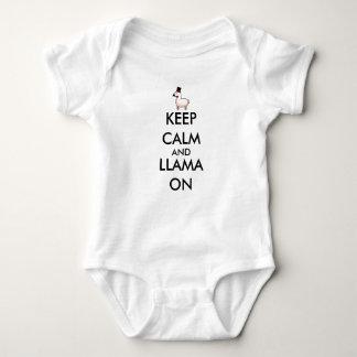 Body Para Bebê Mantenha a calma e o lama sobre