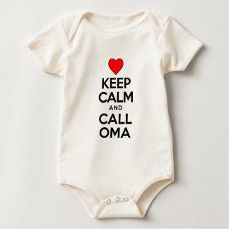 Body Para Bebê Mantenha a chamada calma Oma