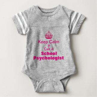 Body Para Bebê Mantenha a chamada calma um Bodysuit do bebê do