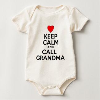 Body Para Bebê Mantenha avó calma e da chamada