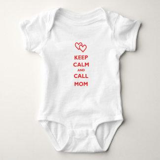 Body Para Bebê Mantenha mamã calma e da chamada