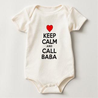 Body Para Bebê Mantenha o babá calmo da chamada