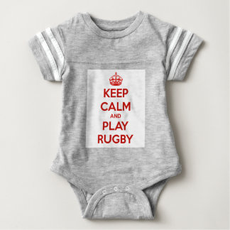 Body Para Bebê Mantenha o rugby da calma e do jogo