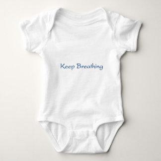 Body Para Bebê Mantenha respirar