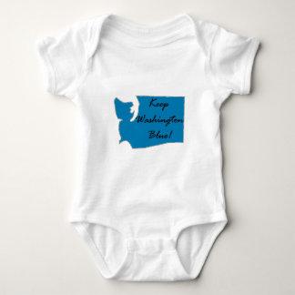 Body Para Bebê Mantenha Washington azul! Orgulho Democrática!