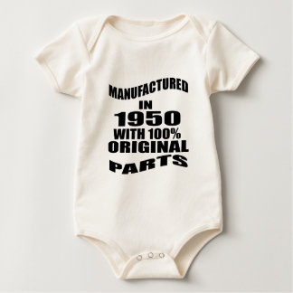 Body Para Bebê Manufacturado em 1950 com as peças do original de